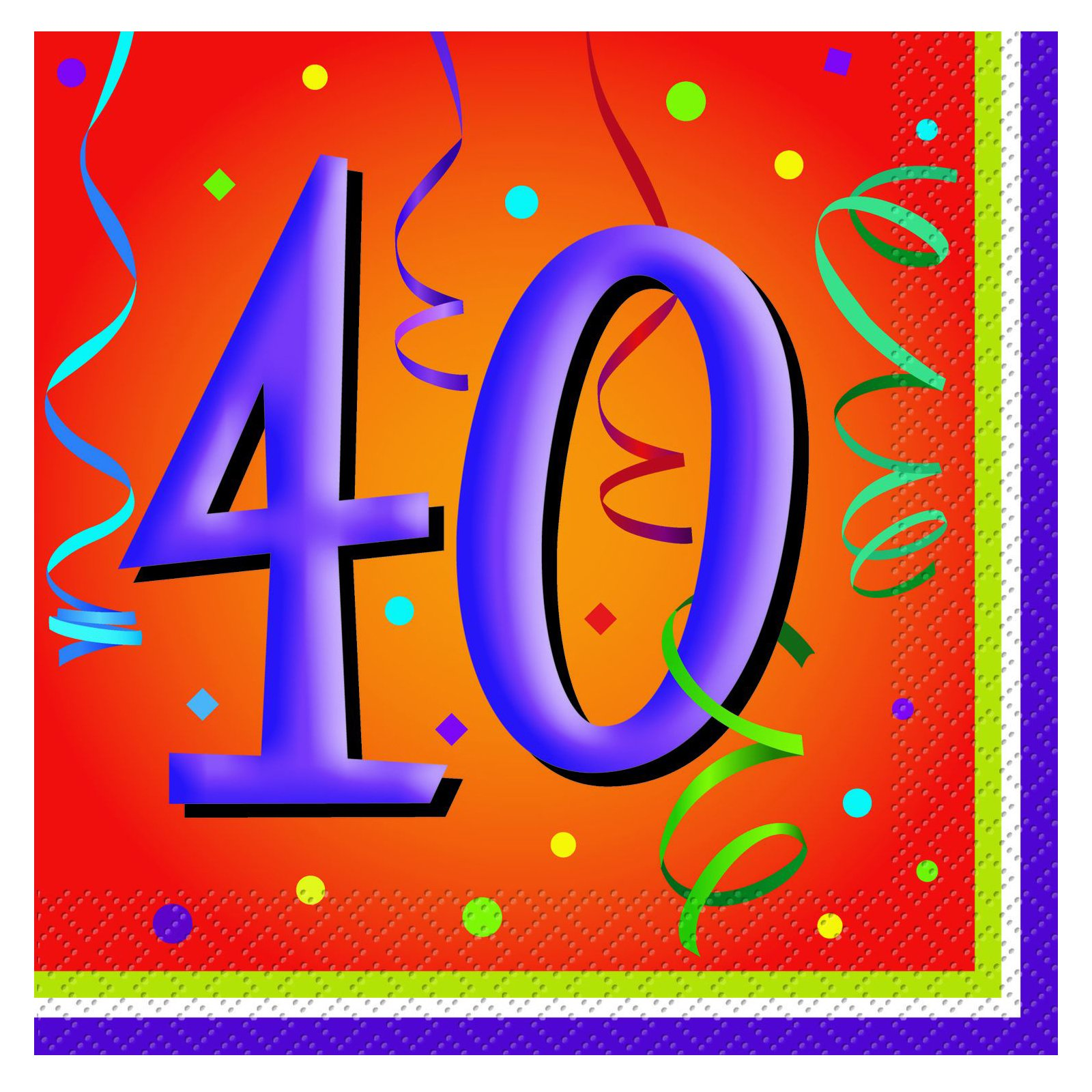 Lively Birthday 40 - Lunch Napkins (16 count)