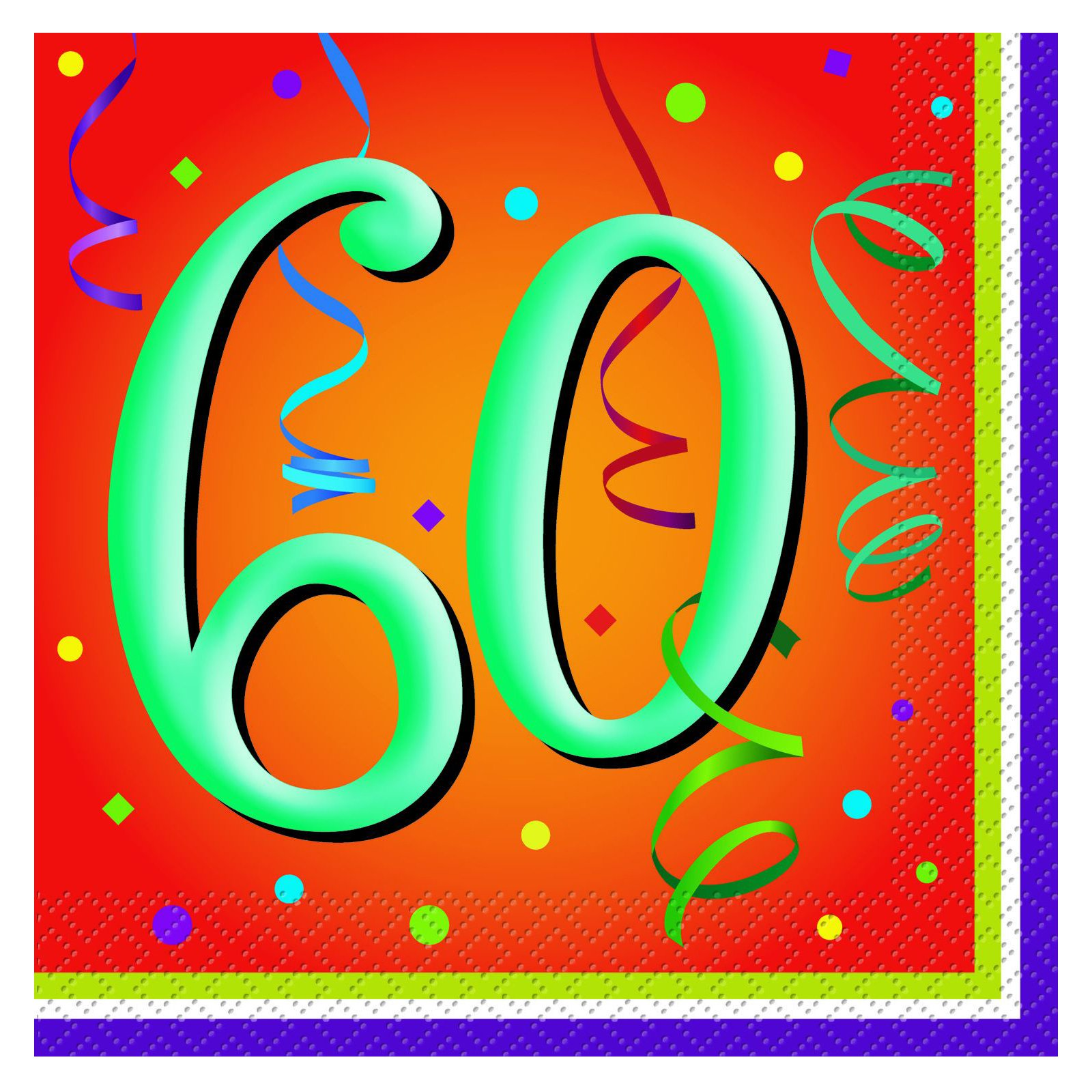 Lively Birthday 60 - Lunch Napkins (16 count)