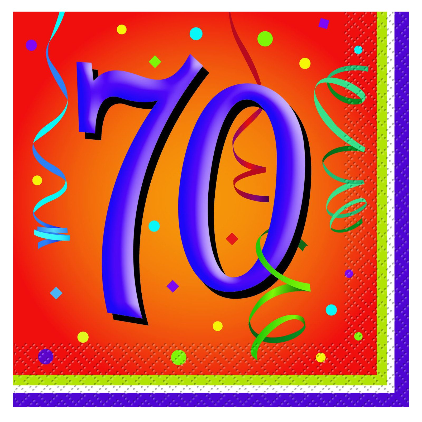 Lively Birthday 70 - Lunch Napkins (16 count)