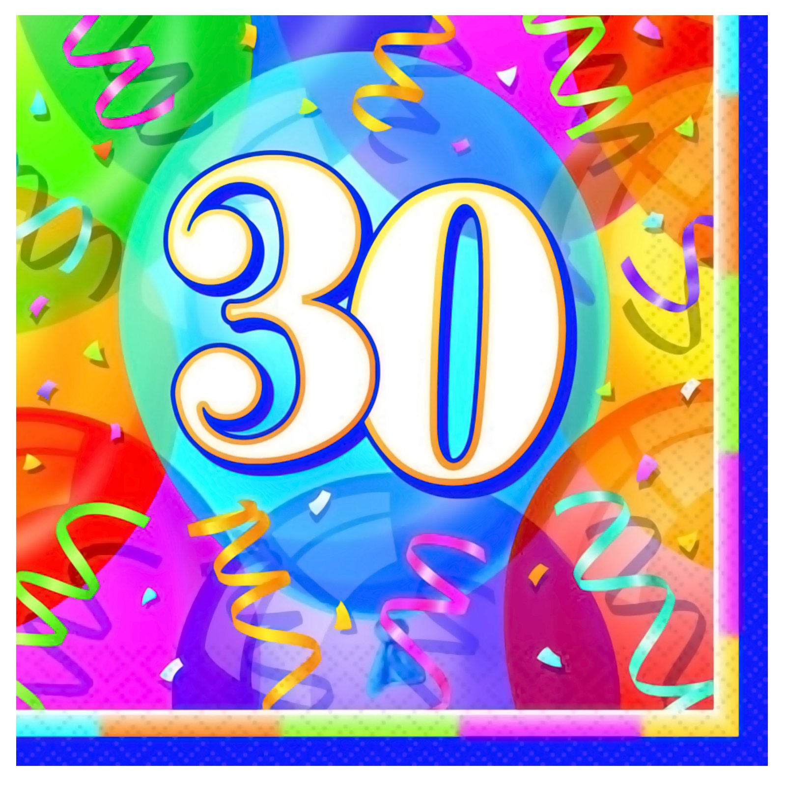 Brilliant Birthday 30 - Lunch Napkins (16 count)