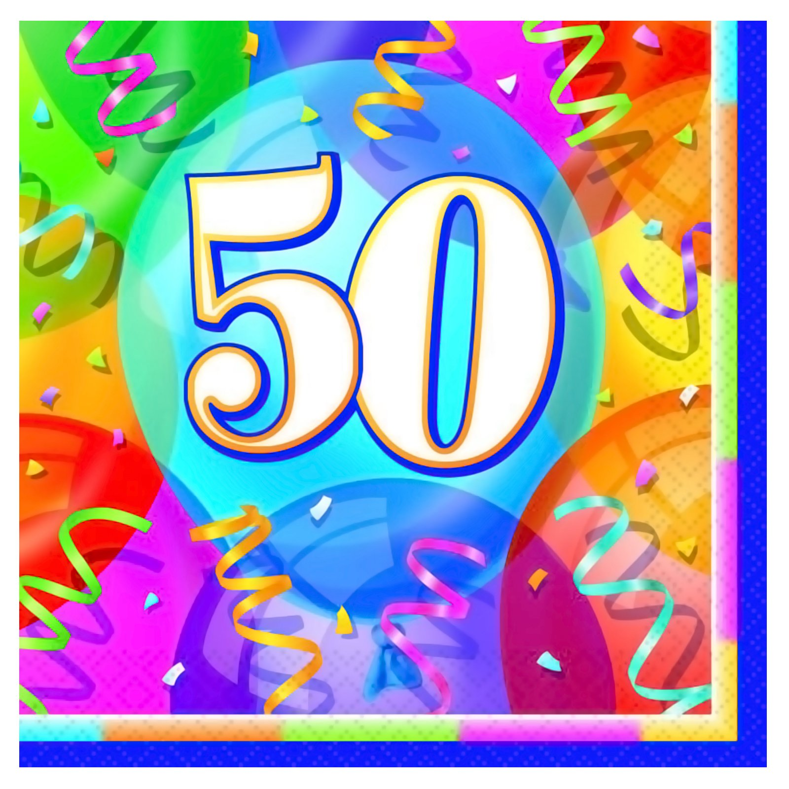 Brilliant Birthday 50 - Lunch Napkins (16 count)