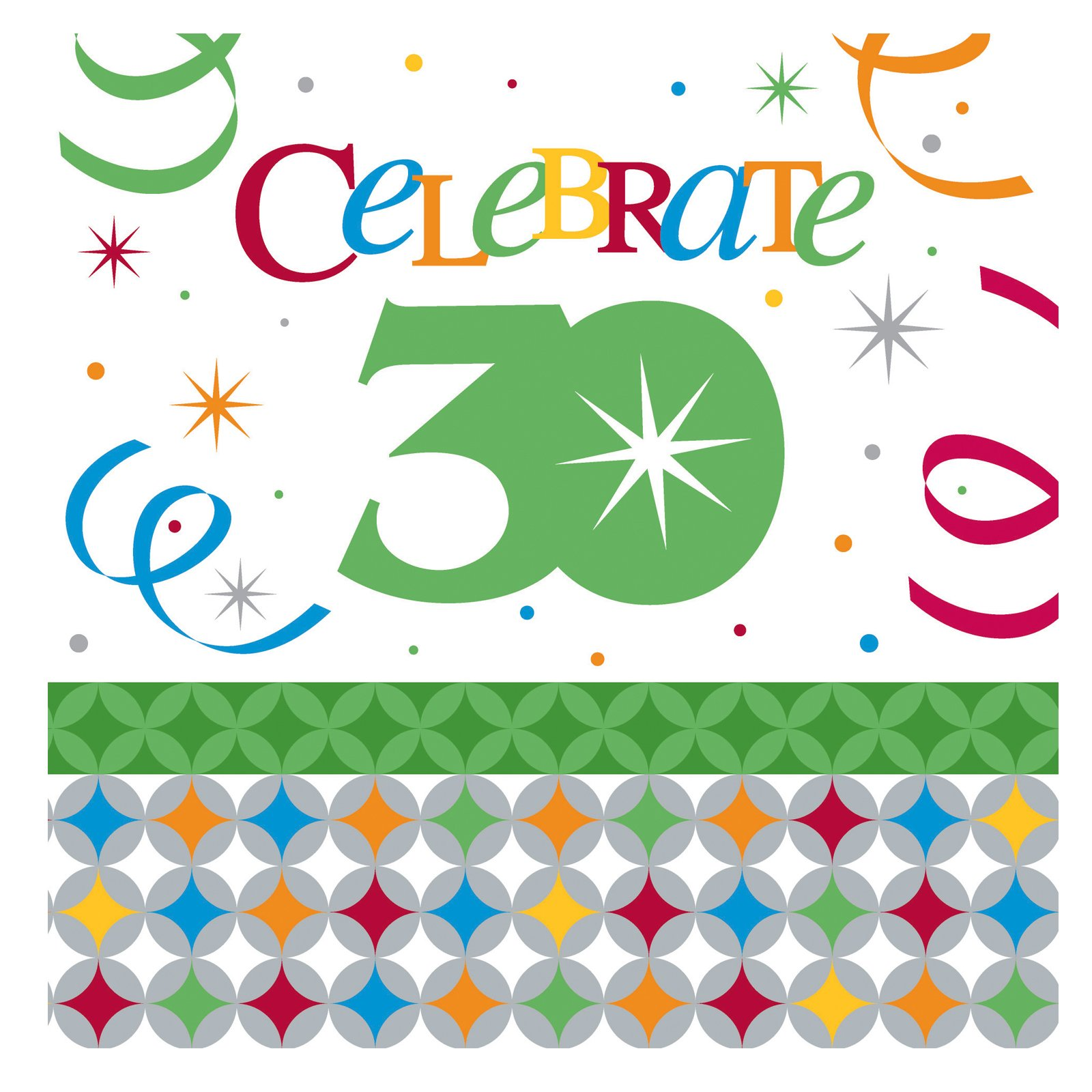 Celebrate In Style 30 Lunch Napkins (16 count)