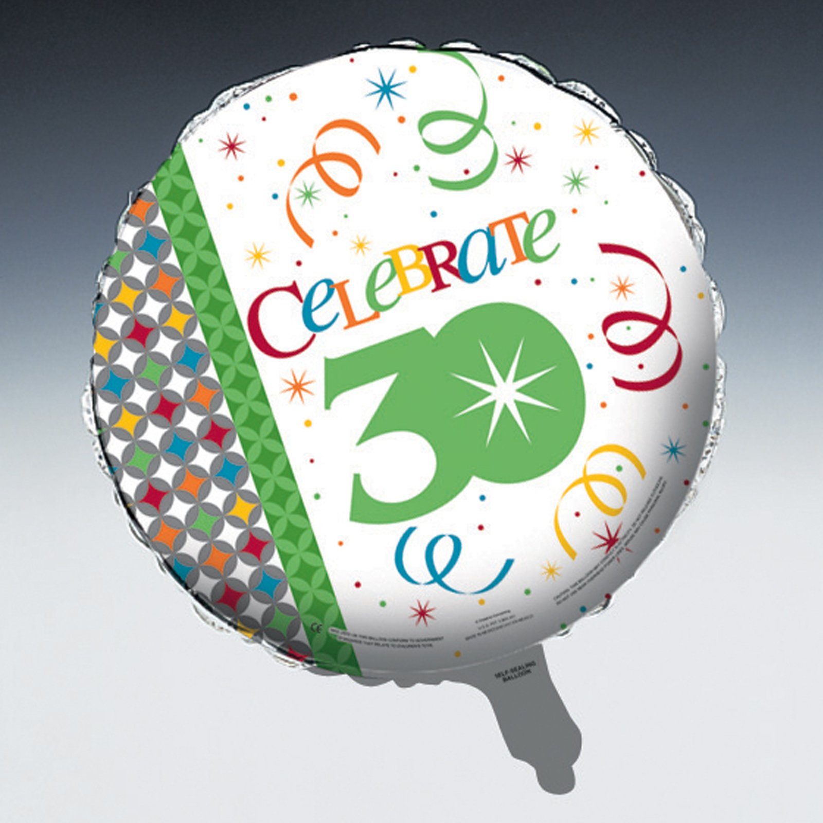 "Celebrate In Style 30 - 18"" Foil Balloon"