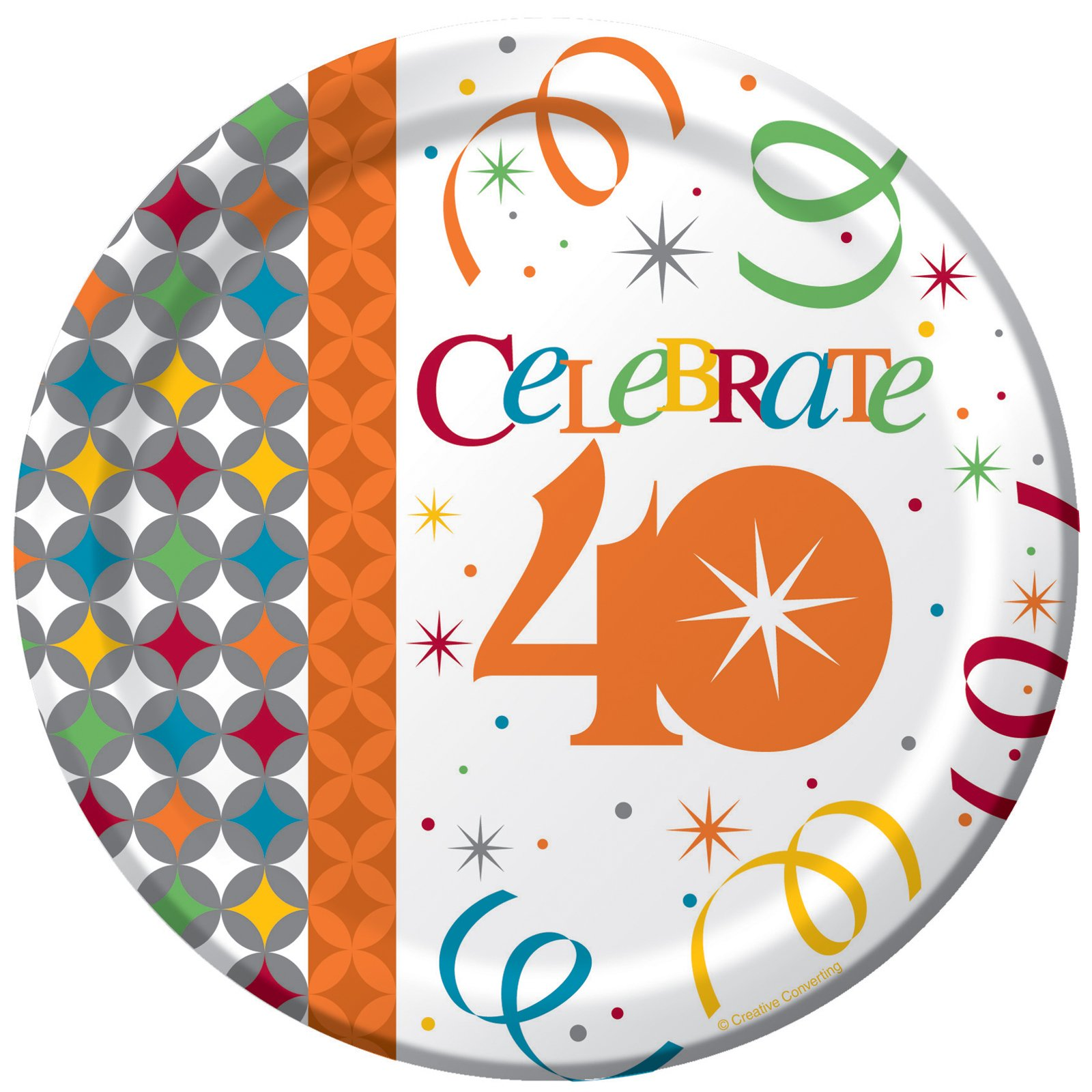 Celebrate In Style 40 Dessert Plates (8 count)