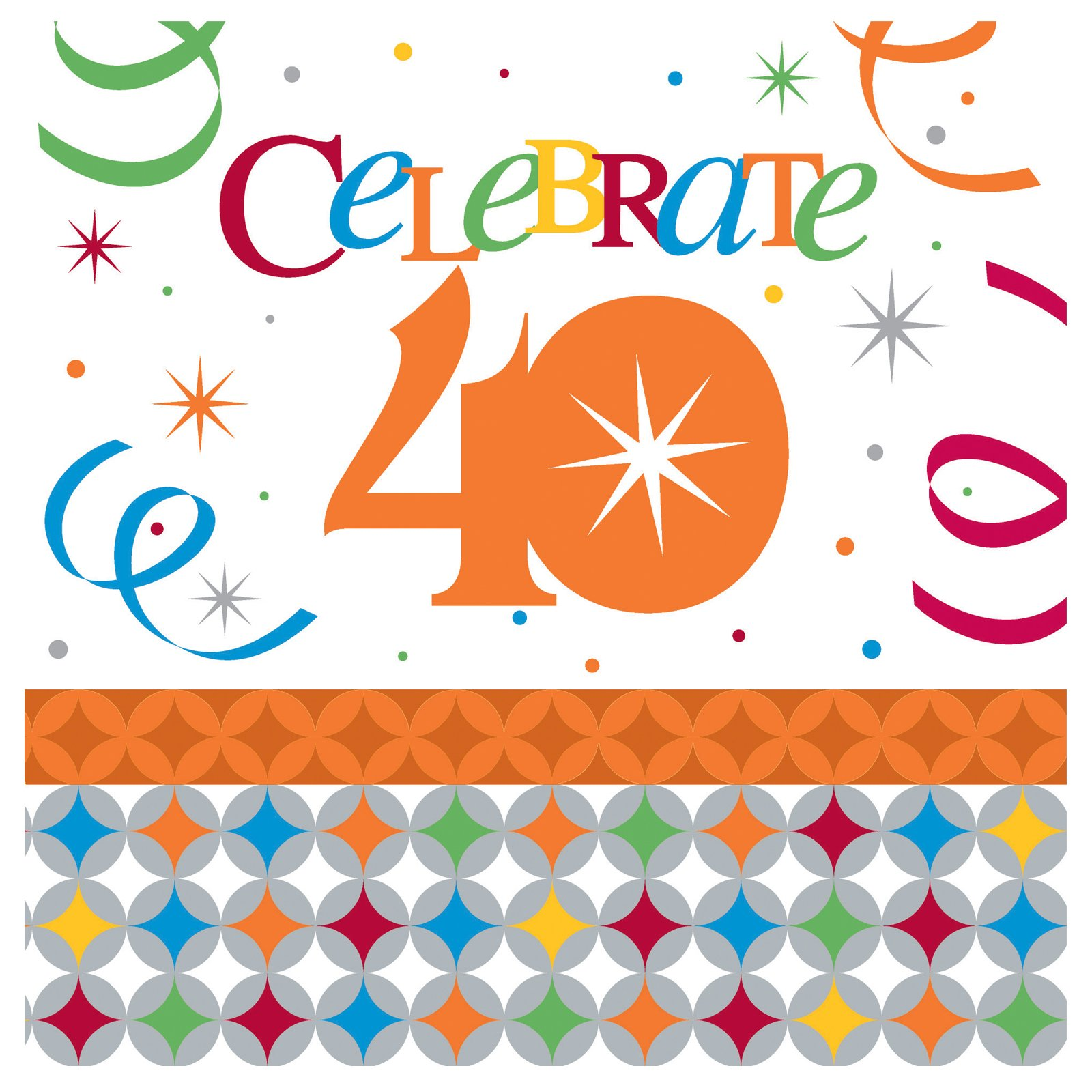 Celebrate In Style 40 Lunch Napkins (16 count) - Click Image to Close