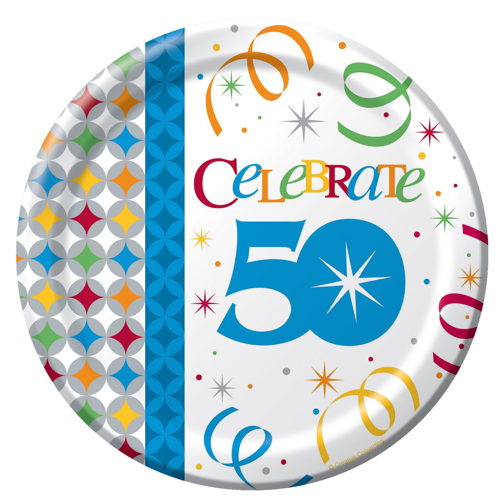 Celebrate In Style 50 Dessert Plates (8 count)
