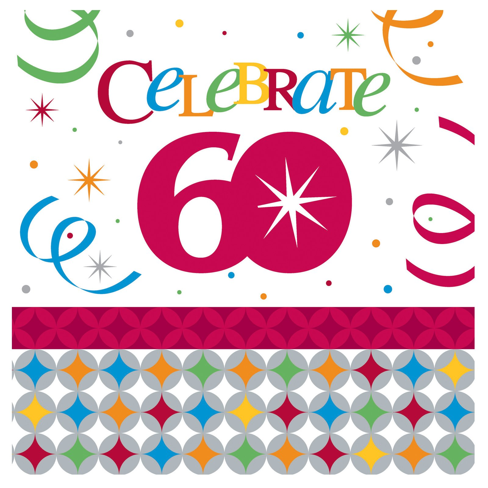 Celebrate In Style 60 Lunch Napkins (16 count)