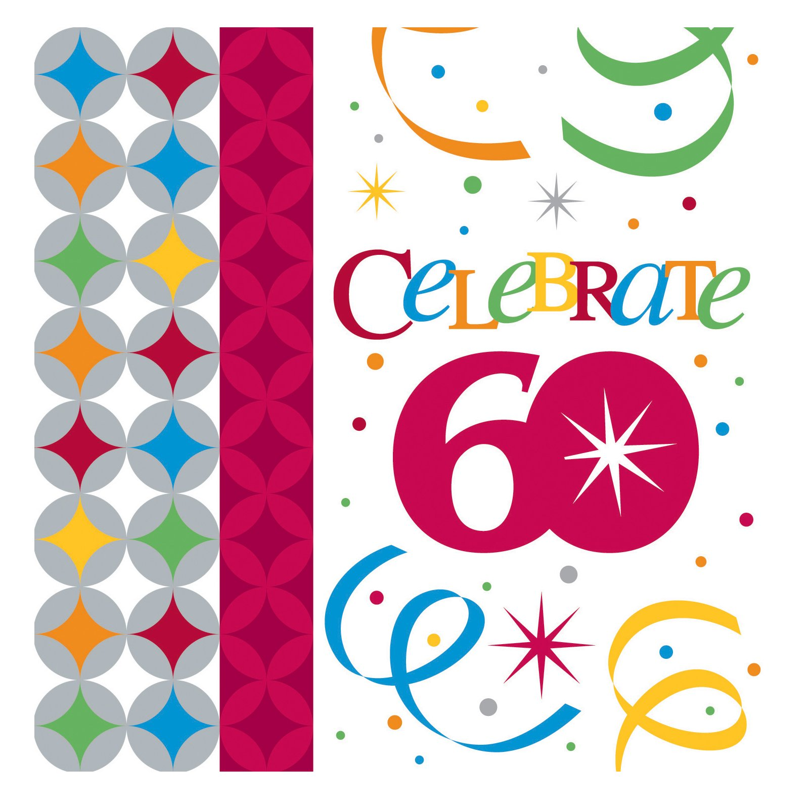 Celebrate In Style 60 Beverage Napkins (16 count)