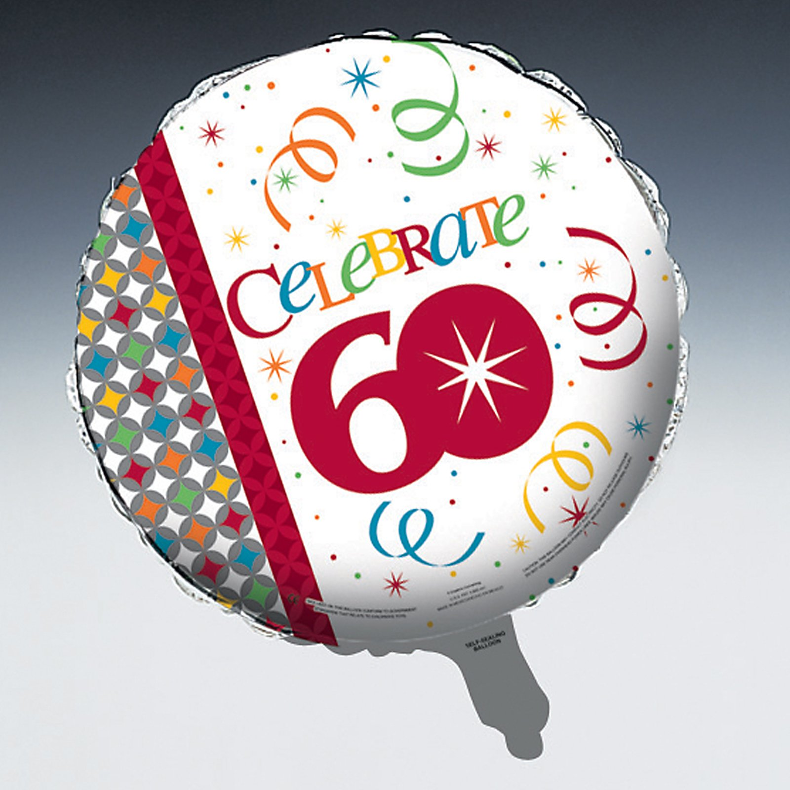 "Celebrate In Style 60 - 18"" Foil Balloon"