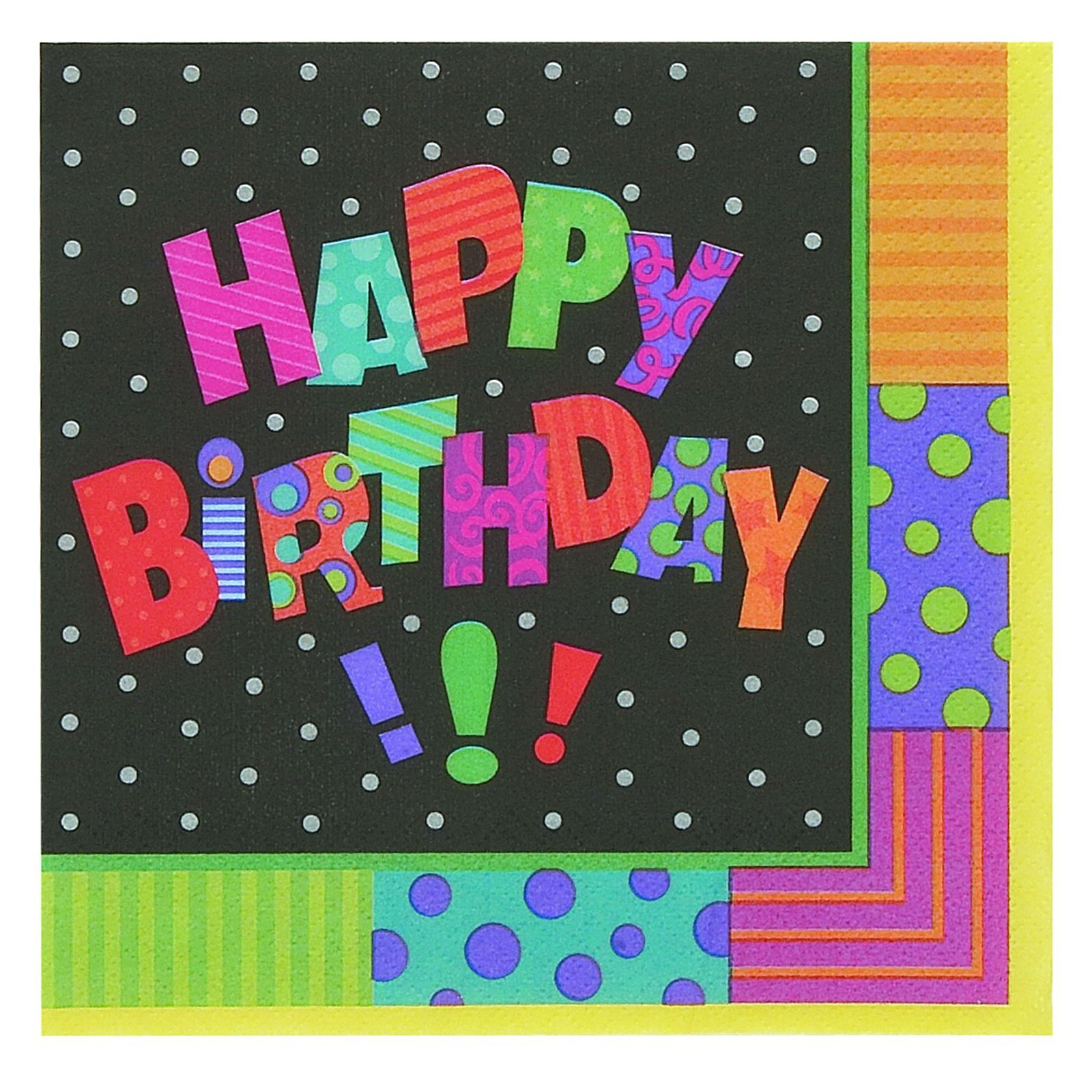 Infinite Birthday Beverage Napkins (16 count) - Click Image to Close