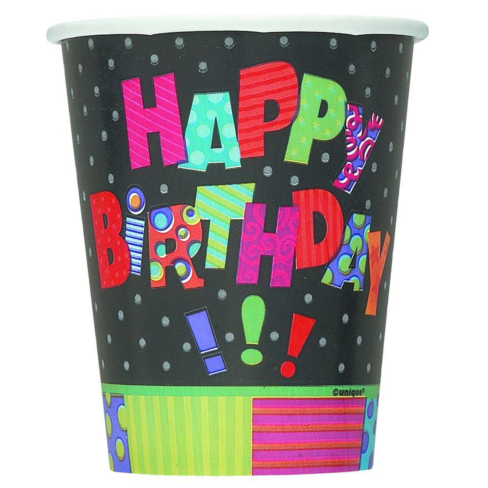 Infinite Birthday 9 oz. Paper Cups (8 count)