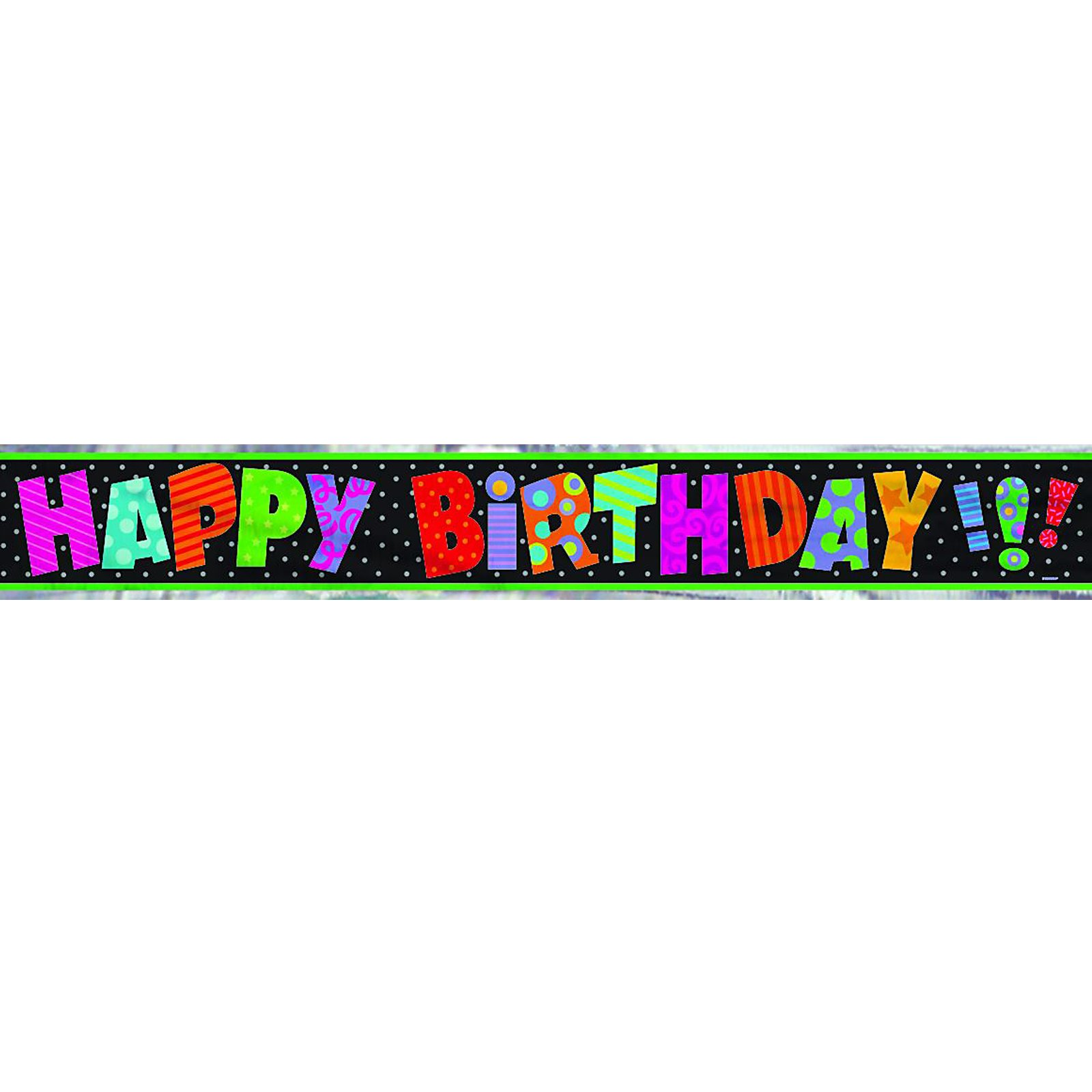 12' Infinite Birthday Foil Banner