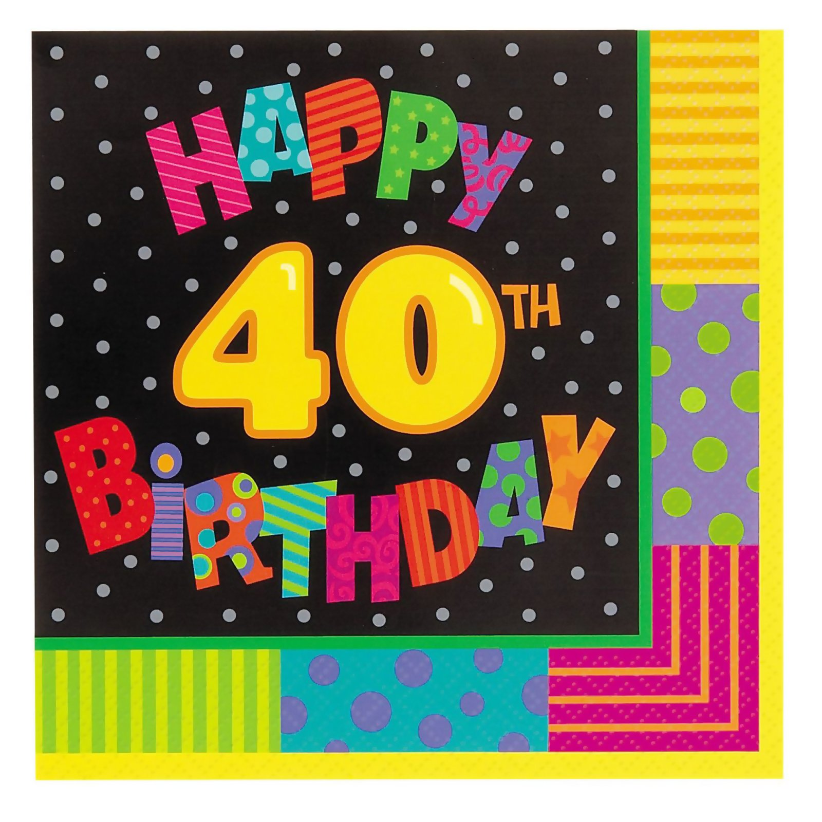 Infinite Birthday 40 Lunch Napkins (16 count)