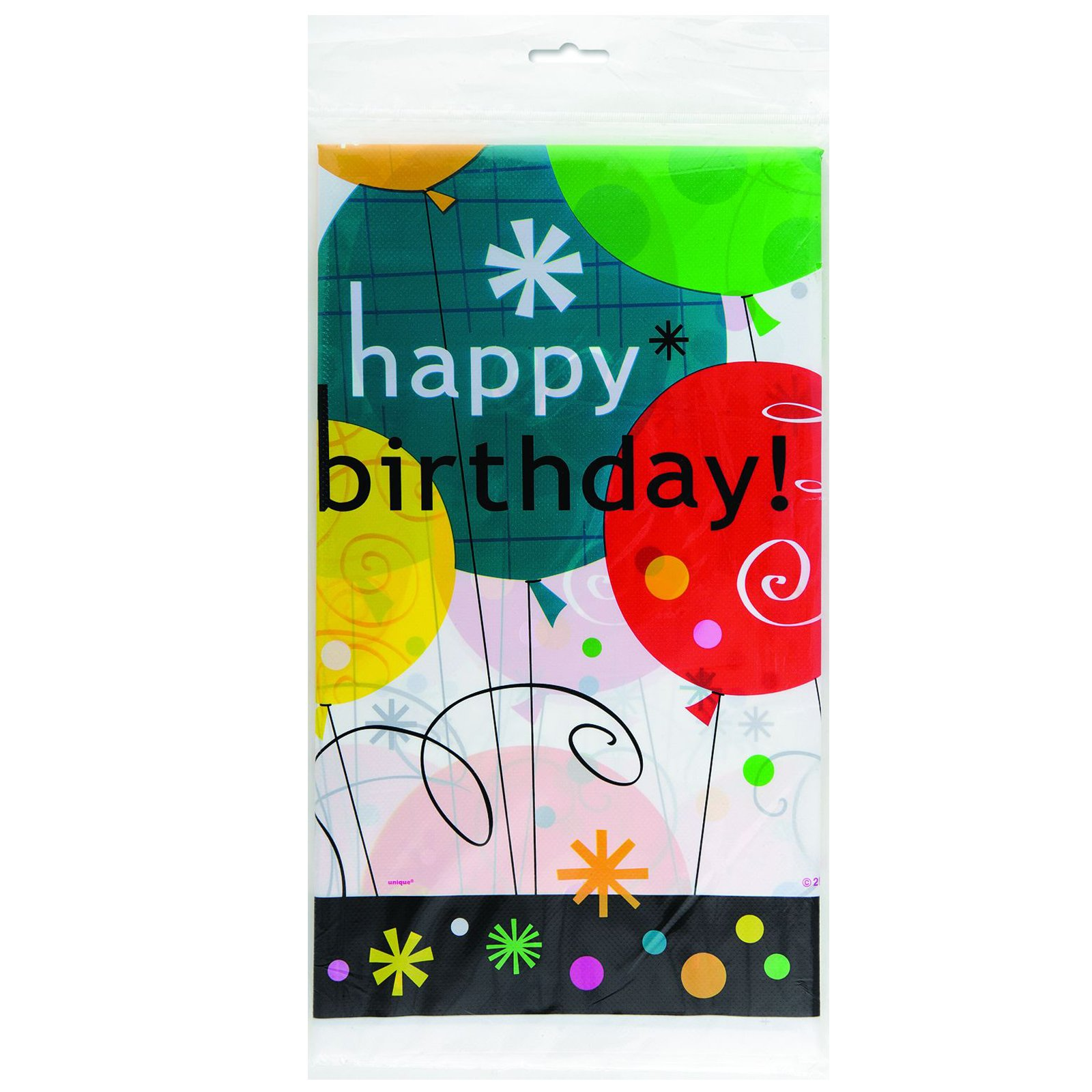 Breezy Birthday Plastic Tablecover