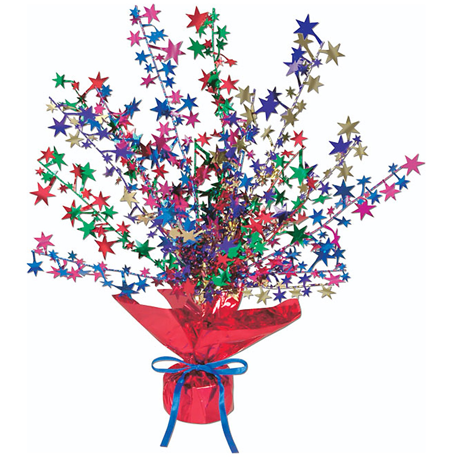Multi Color Star Gleam 'N Burst Centerpiece