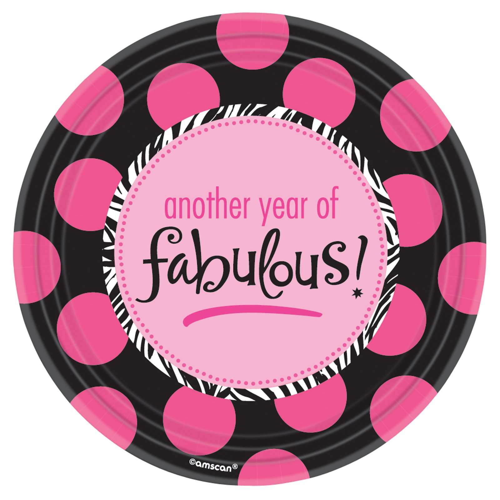 Another Year of Fabulous Dessert Plates (8 count)