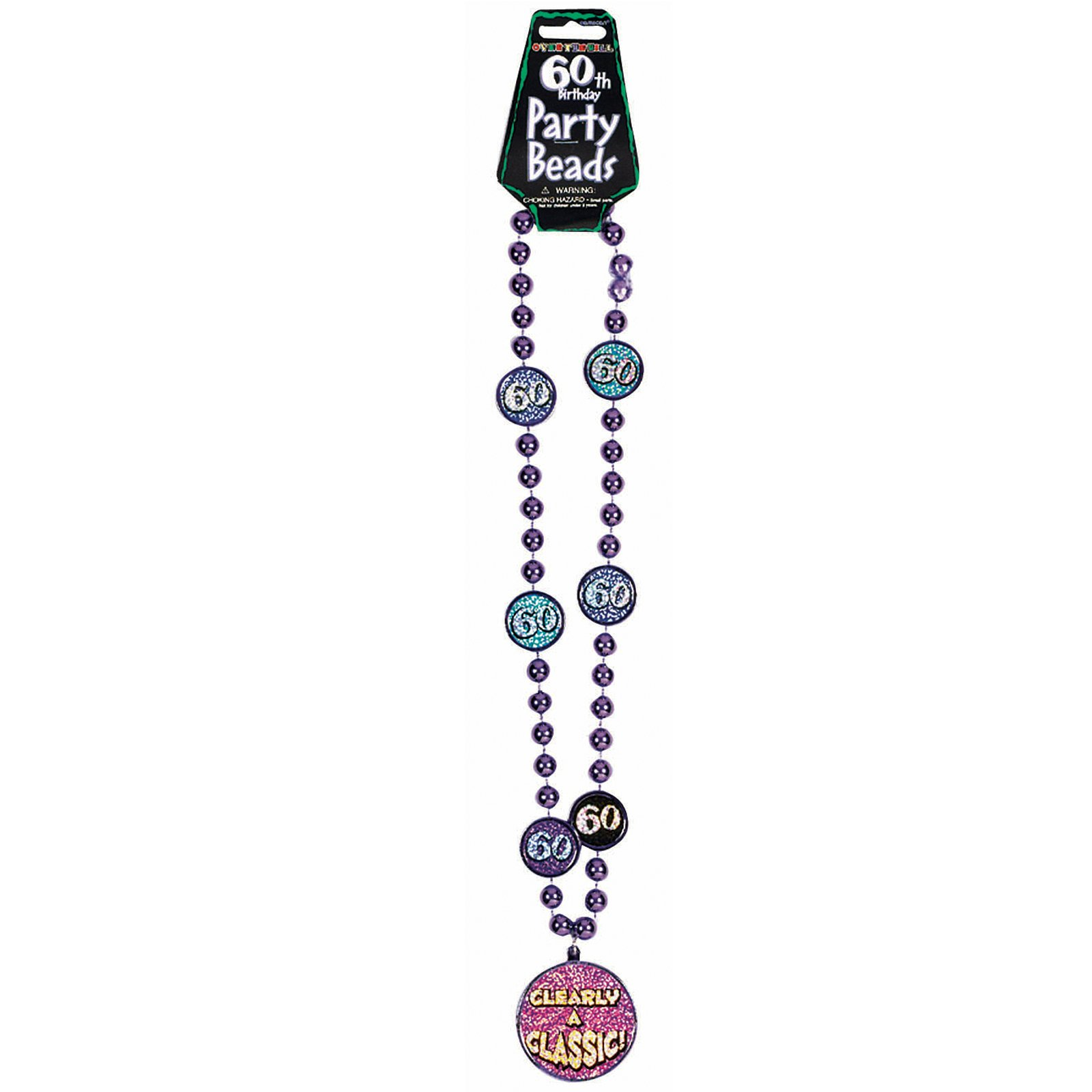 60th Birthday Party Bead Necklace