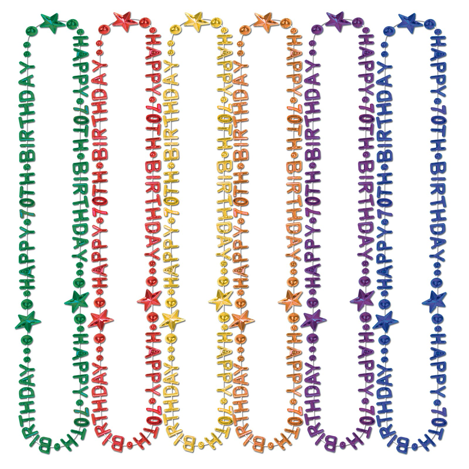 "Beads-Of-Expression ""Happy 70th Birthday"" Asst. (1 count)"