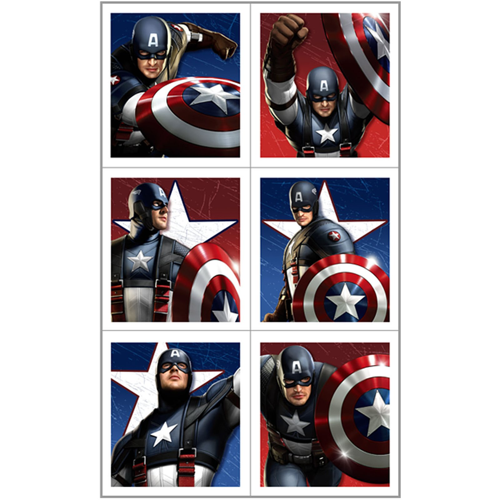 Captain America - Sticker Sheets (4 count)