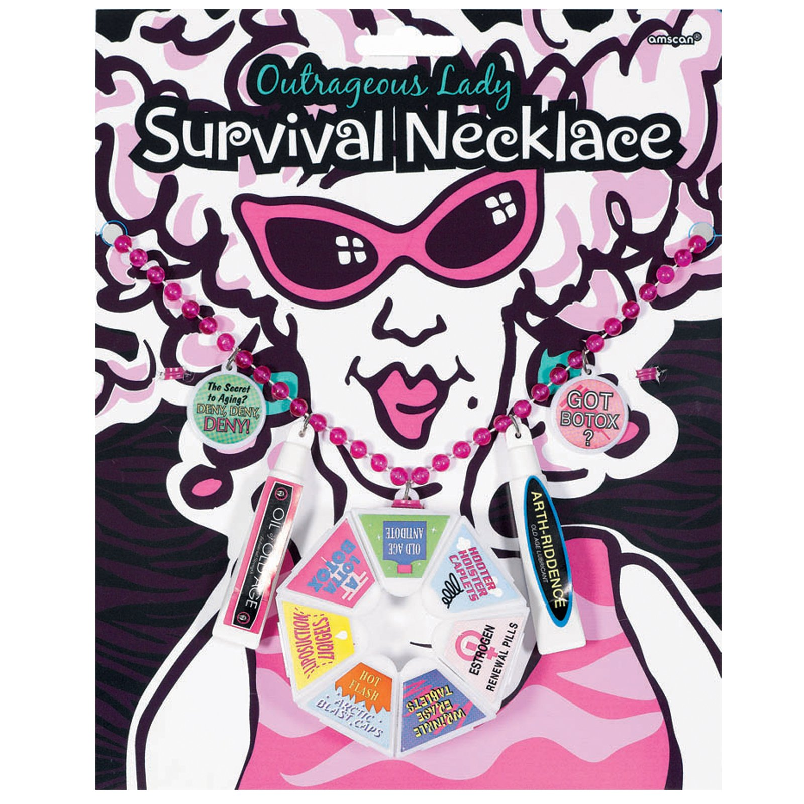 Over the Hill Lady Survival Necklace