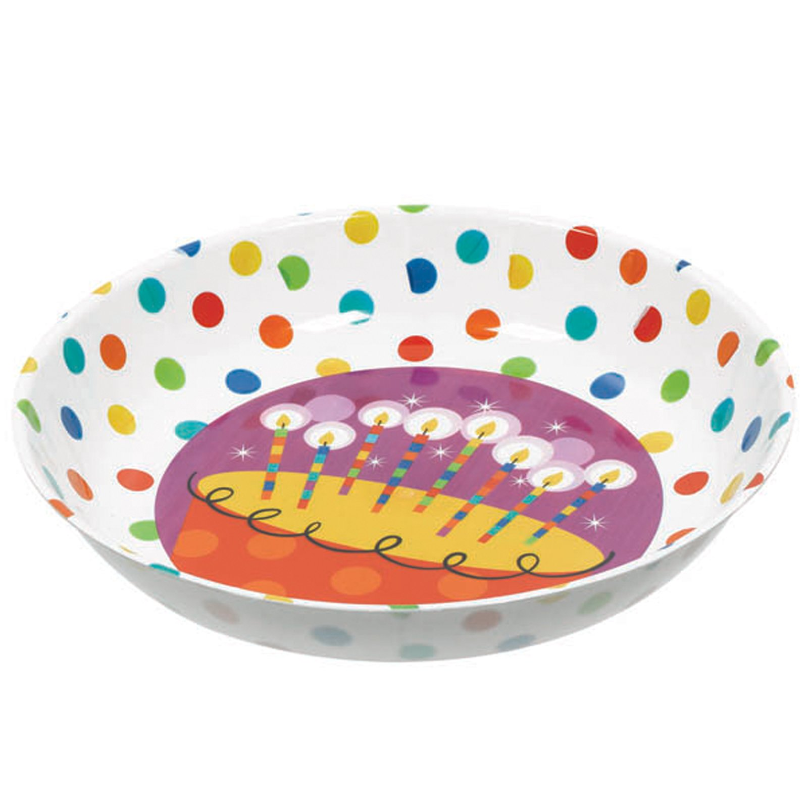 "14"" Large Plastic Birthday Cake Bowl"