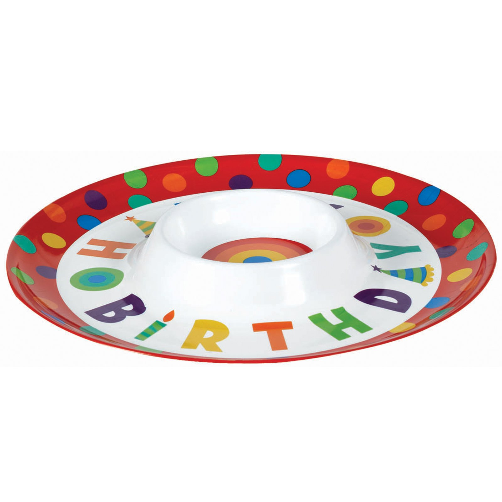 Happy Birthday Chip and Dip Plastic Tray