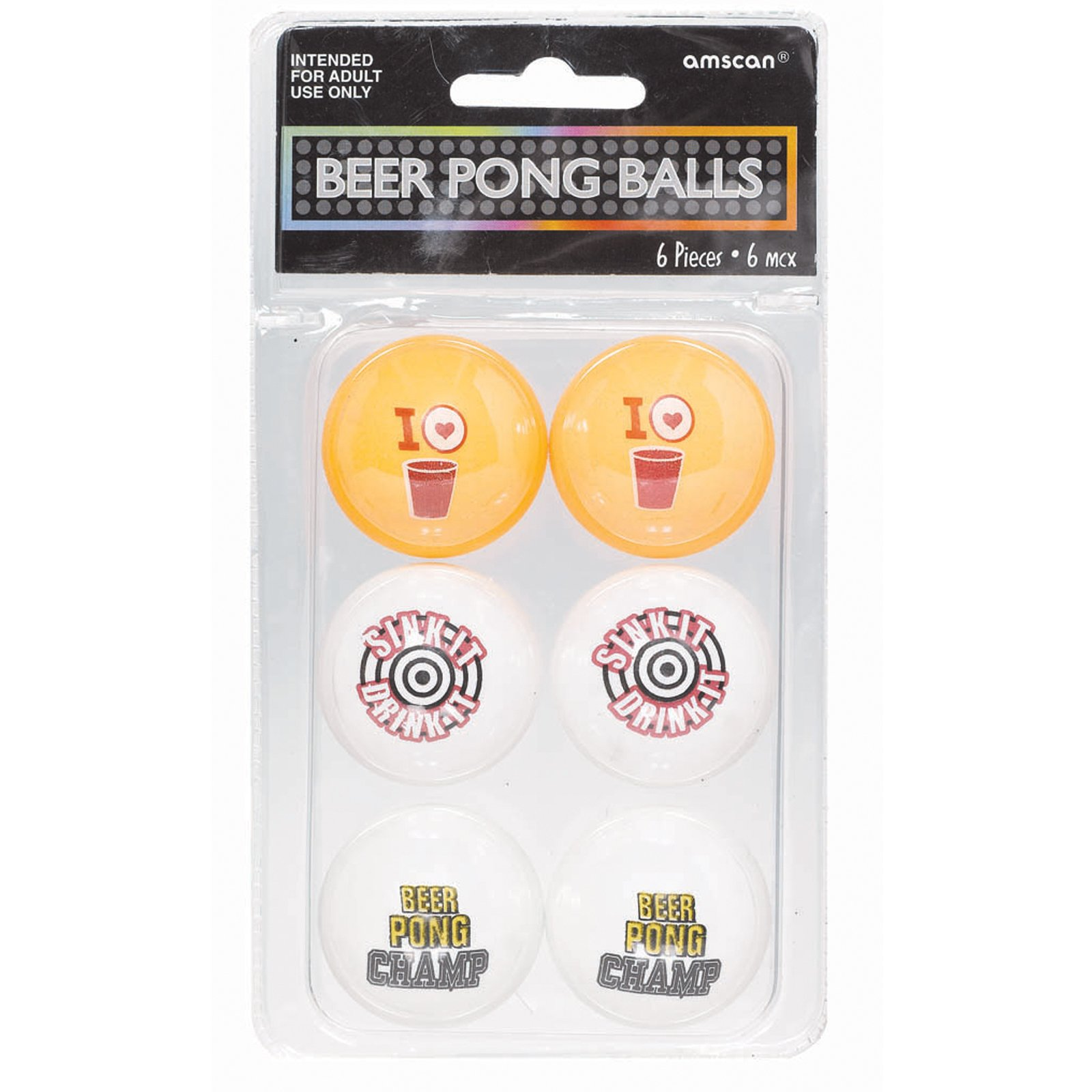 Beer Ping Pong Balls (6 count)