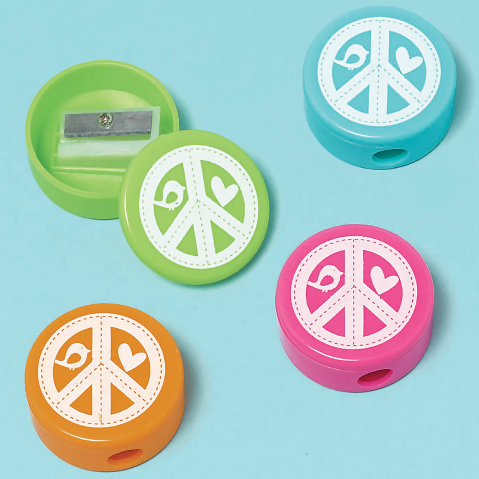 Hippie Chick Pencil Sharpeners Assorted (12 count)