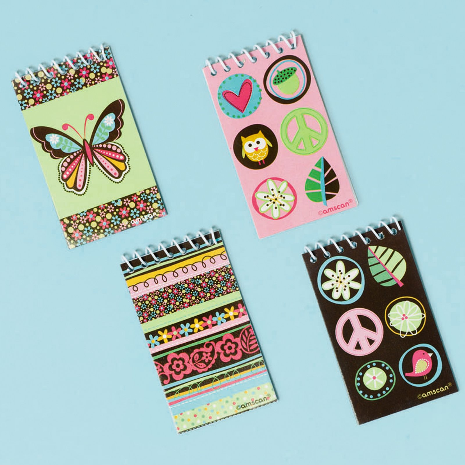 Hippie Chick Notepads Assorted (12 count)