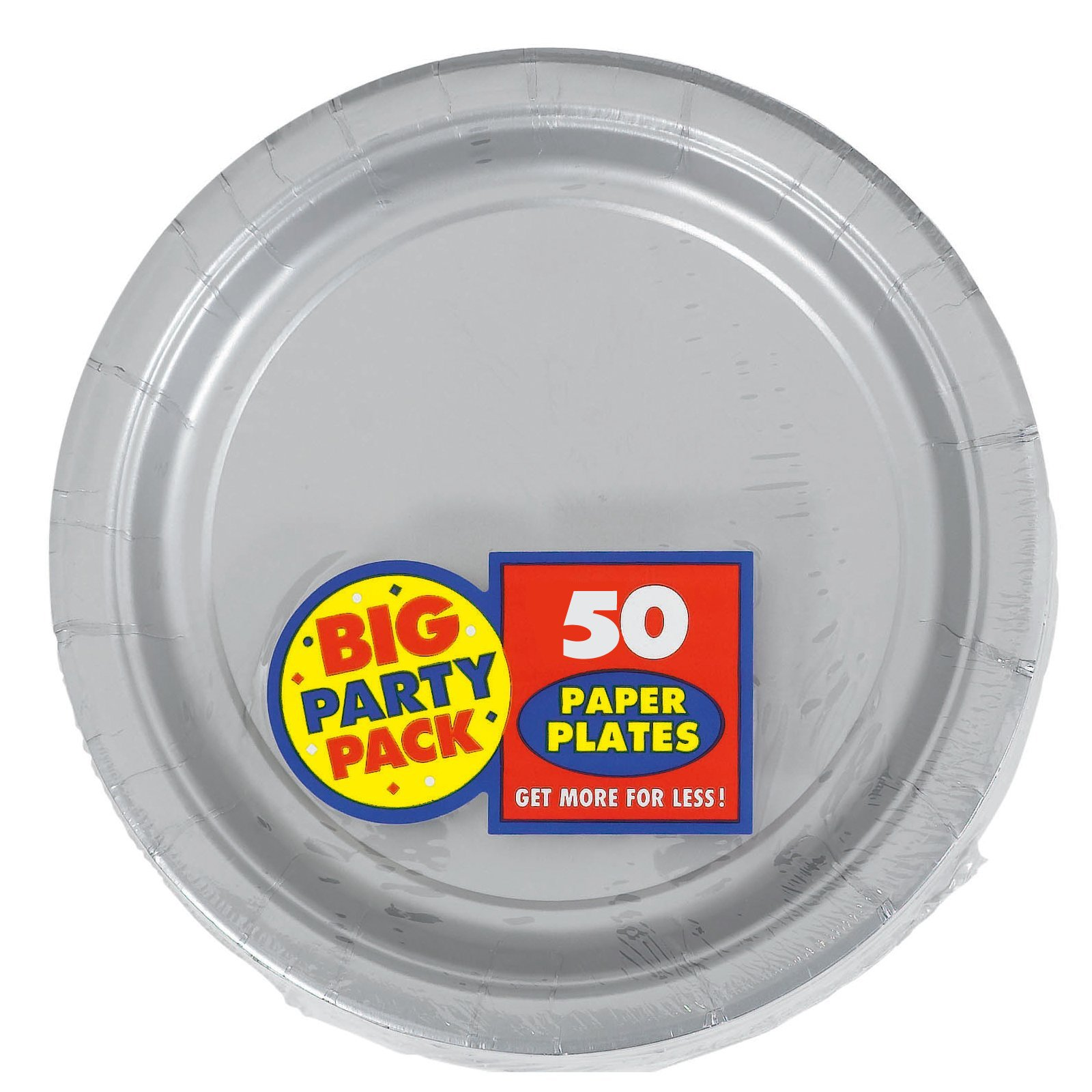 Silver Big Party Pack - Dinner Plates (50 count)