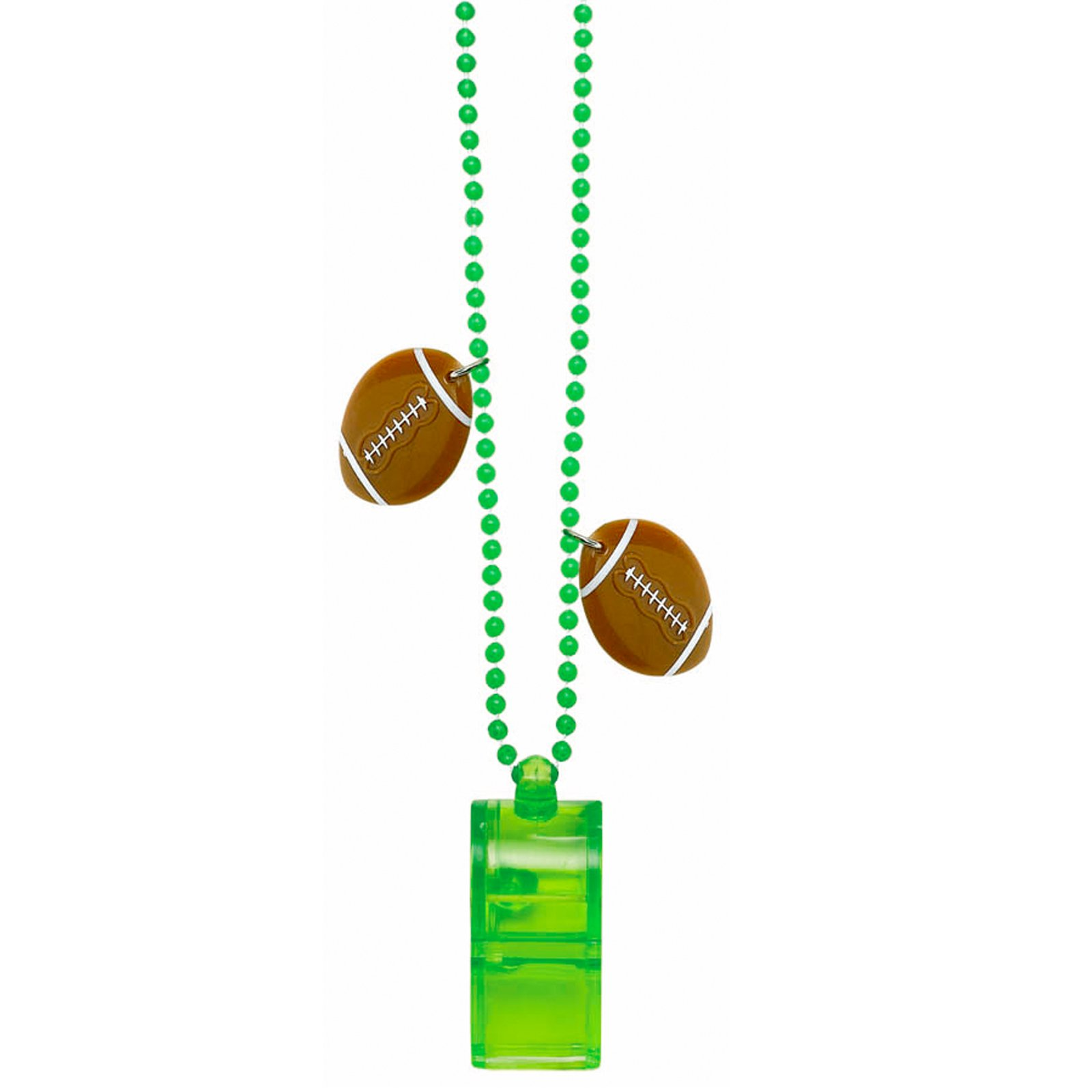 Football - Bead Necklace Chain with Whistle