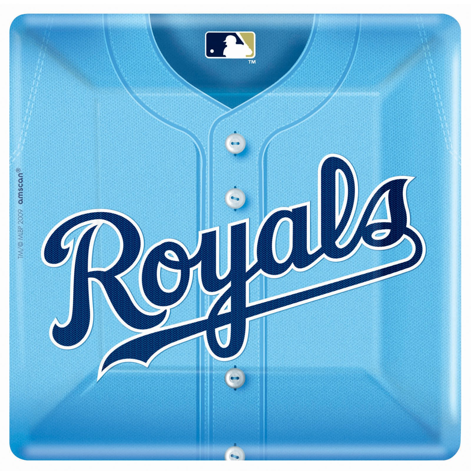 Kansas City Royals Baseball - Square Banquet Dinner Plates (18 c
