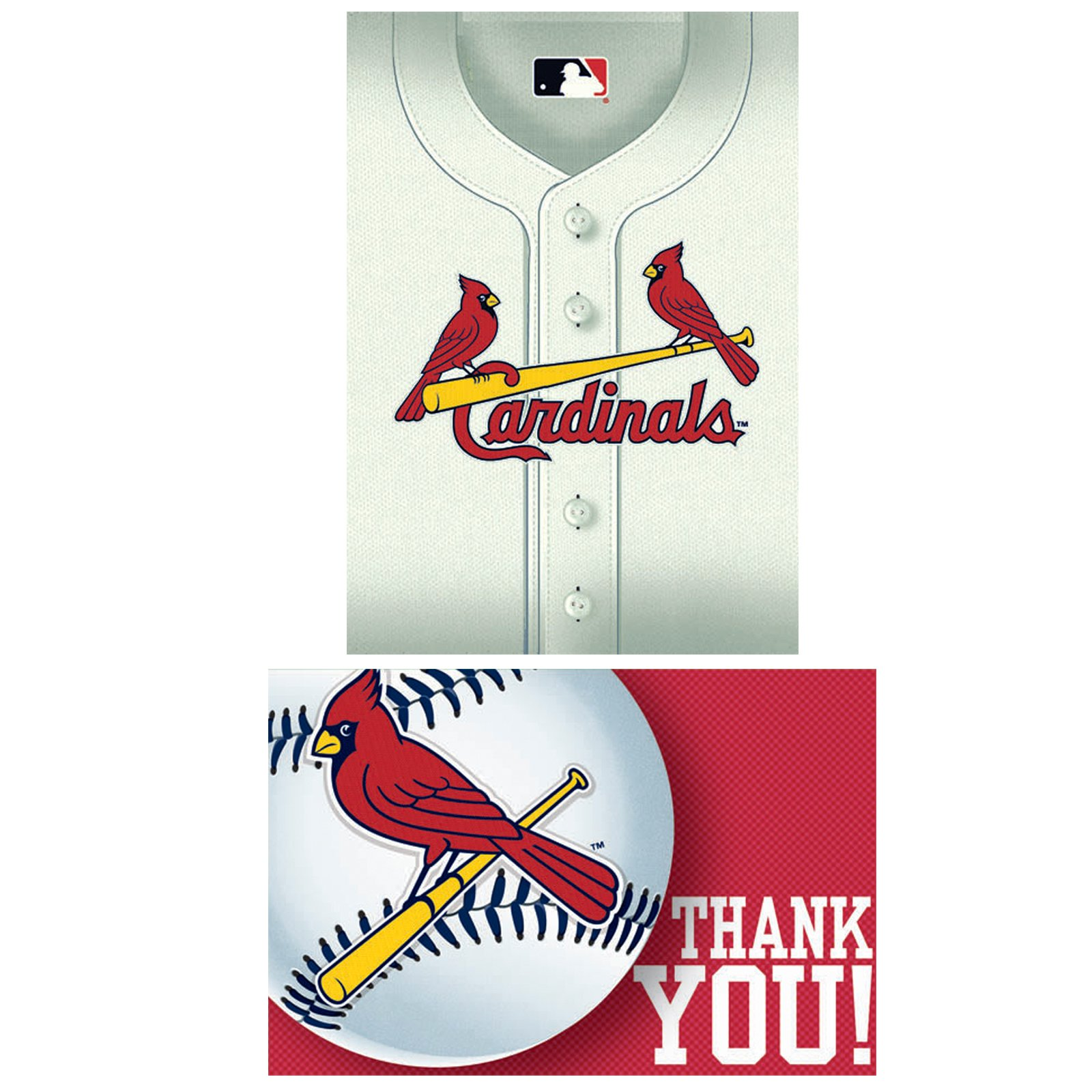 St. Louis Cardinals Baseball - Invitation and Thank You Combo (8