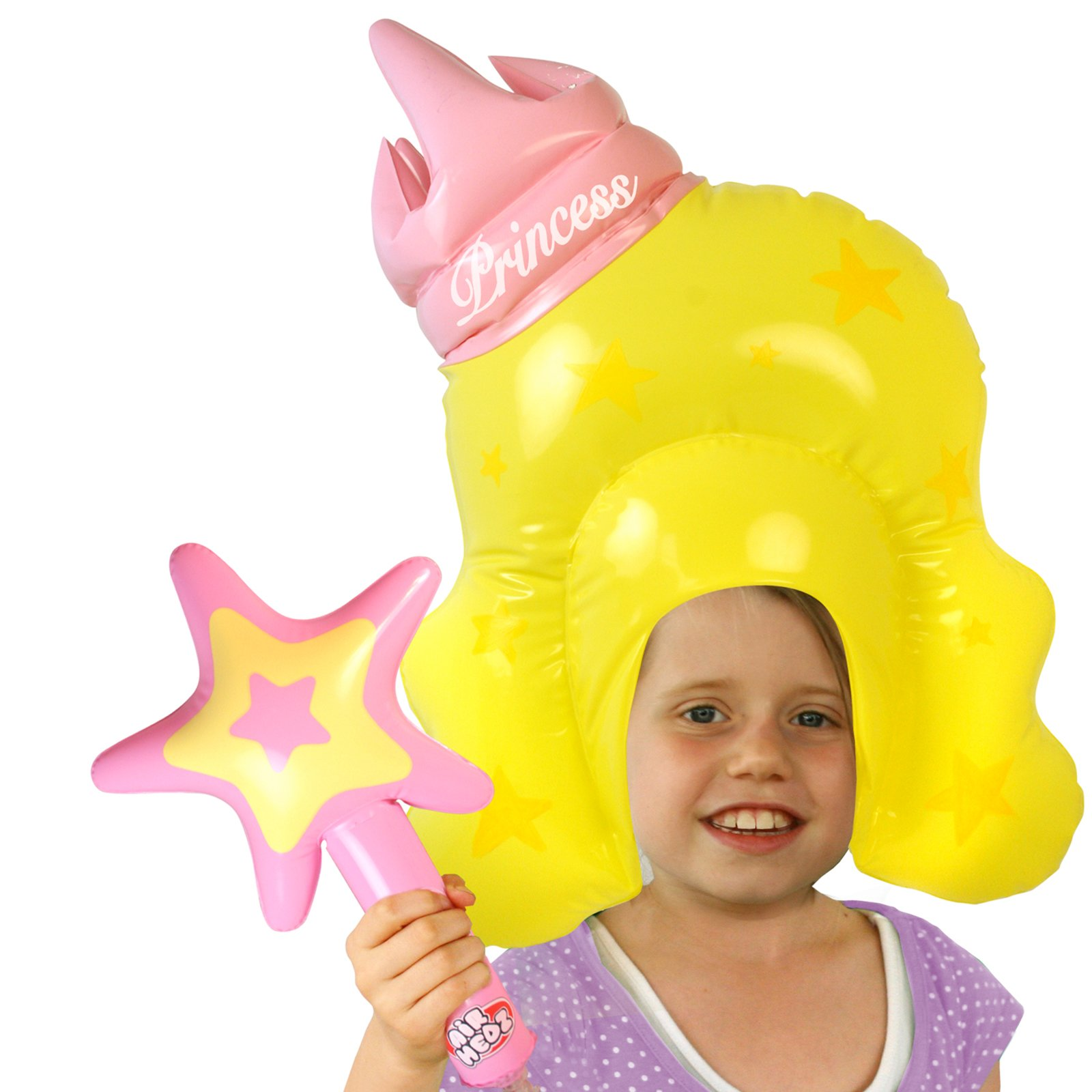 Inflatable Princess Wig and Wand