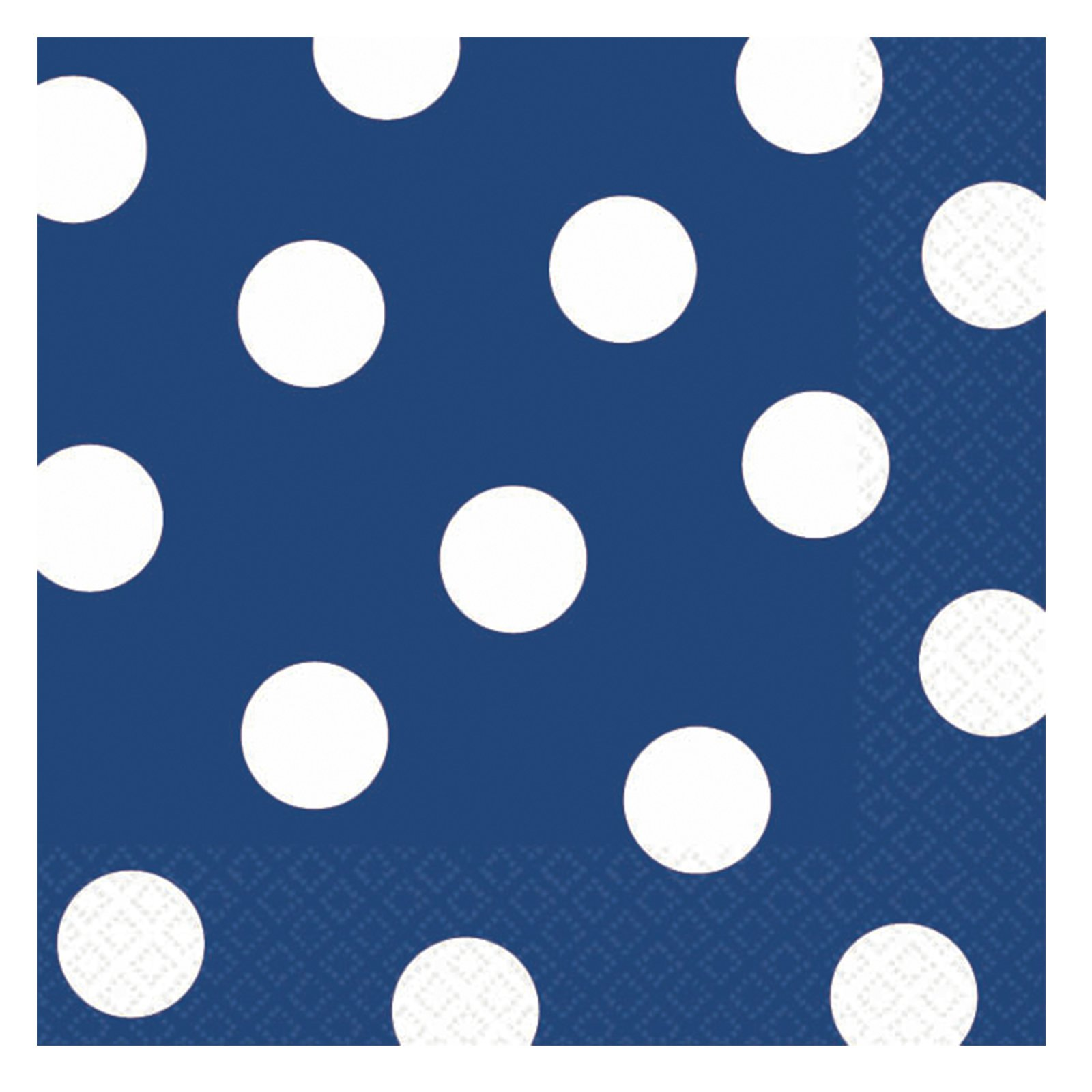 Blue Polka Dot Beverage Napkins (36 count)