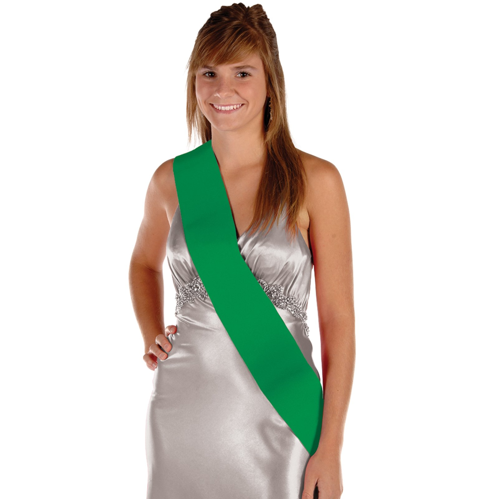 Satin Sash - Green
