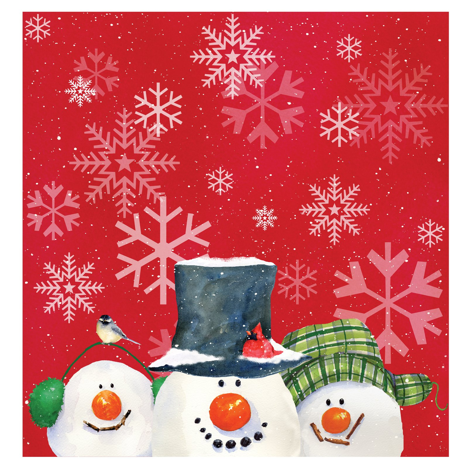 Christmas Snowman Carols - Plastic Tablecover