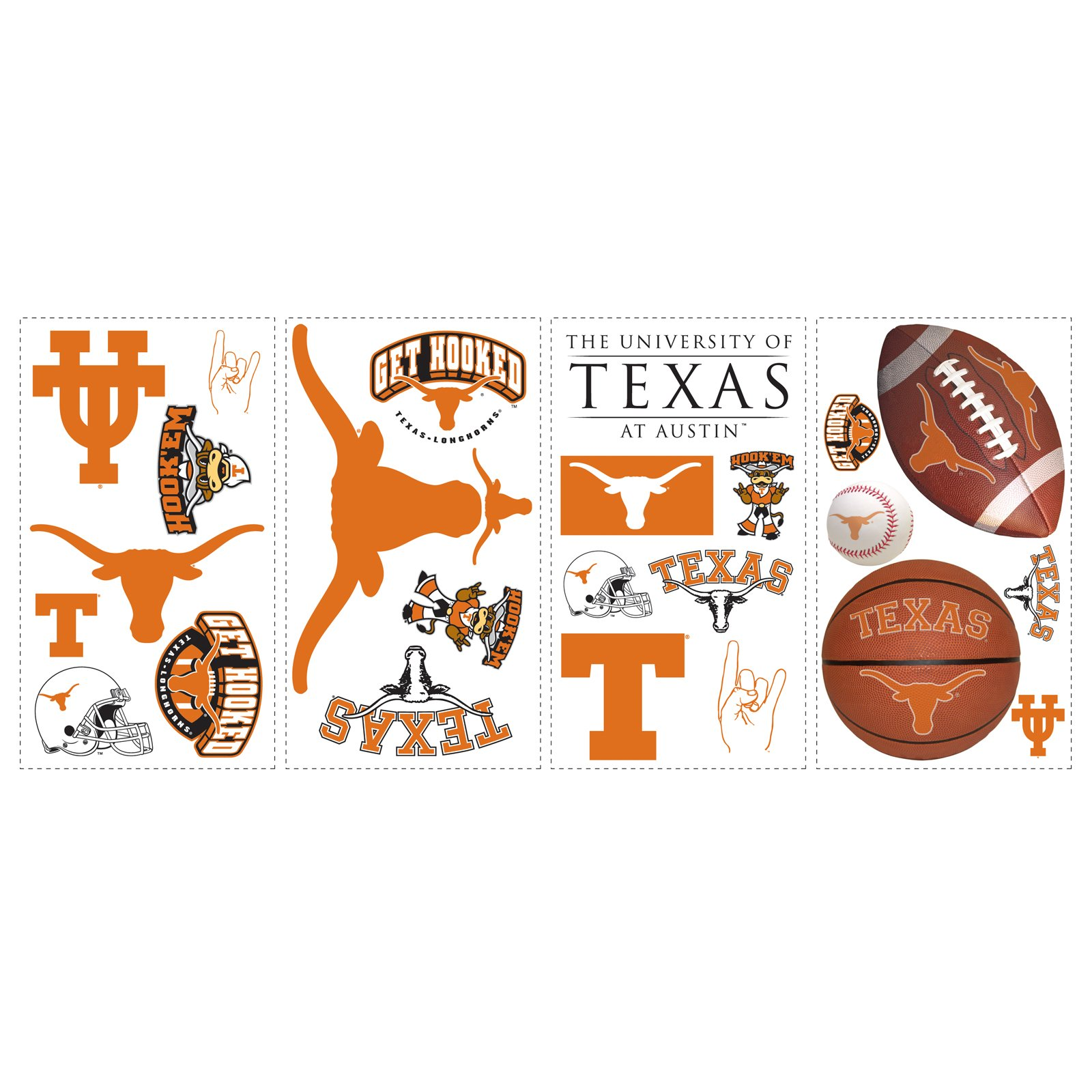 Texas Longhorns - Removable Wall Decals