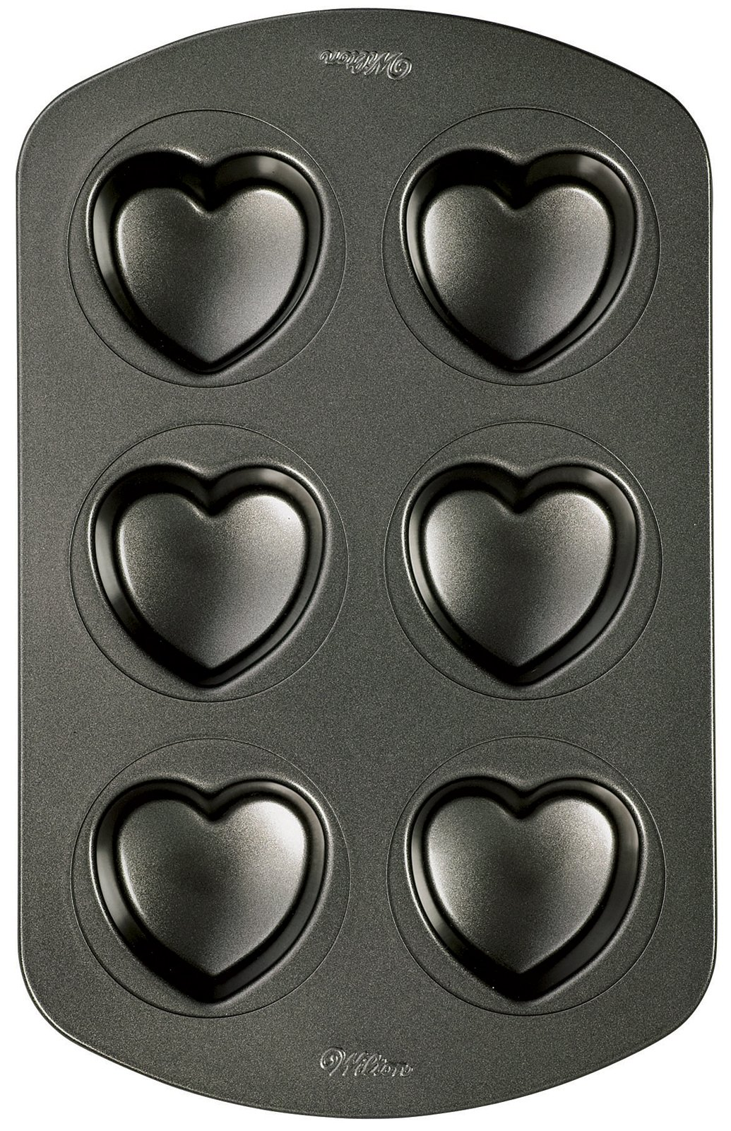 Nonstick Mini Heart Cupcake Pan