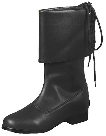 Child Black Pirate Boots