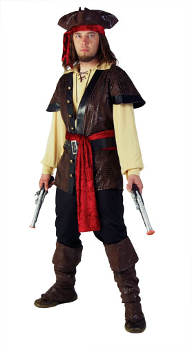 Plus Size Mens Rustic Pirate Costume