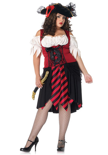 Plus Size Crimson Pirate Costume