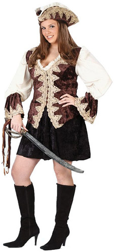 Royal Lady Plus Size Pirate Costume