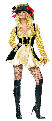Sexy Gold Vixen Pirate Costume