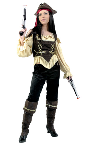Womens Rustic Pirate Costume