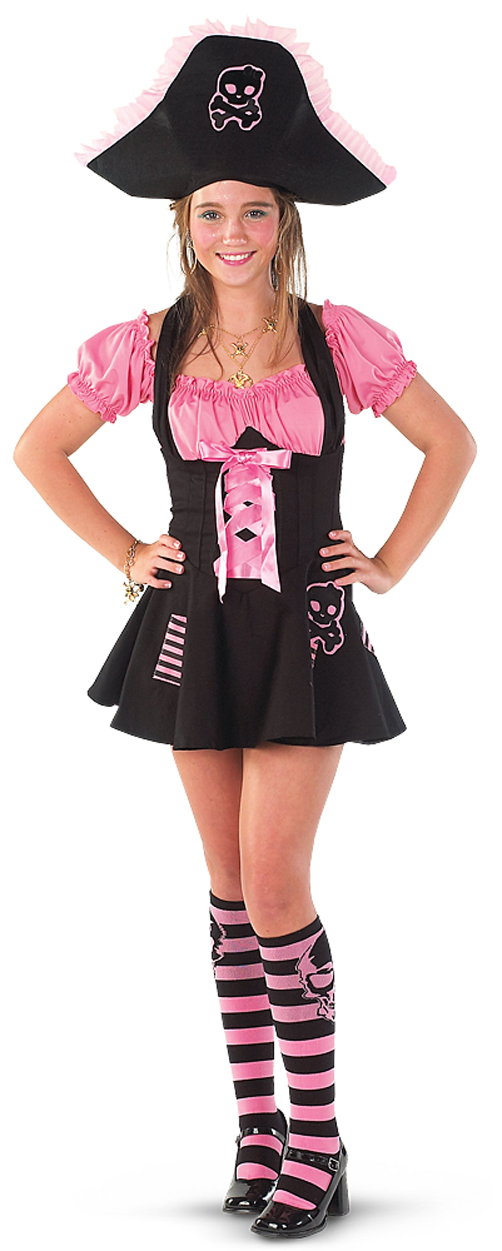 Pink Skull Pirate Adult Costume