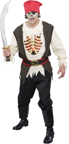 Light Up Undead Pirate Adult Costume