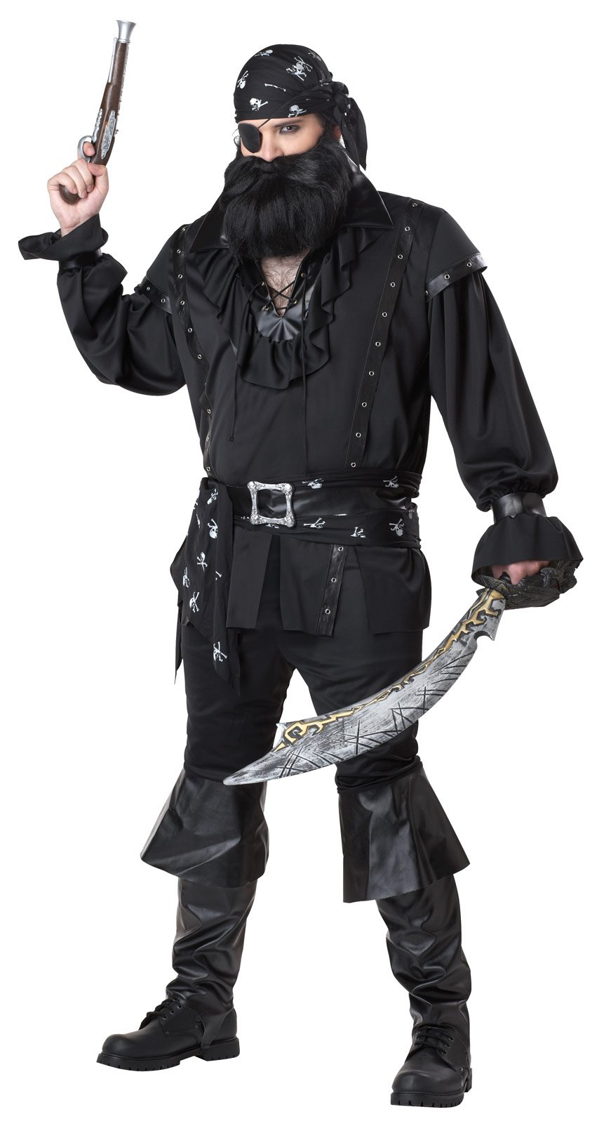 Plundering Pirate Adult Plus Costume