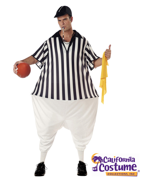 Plus Size Referee Costume for Adult