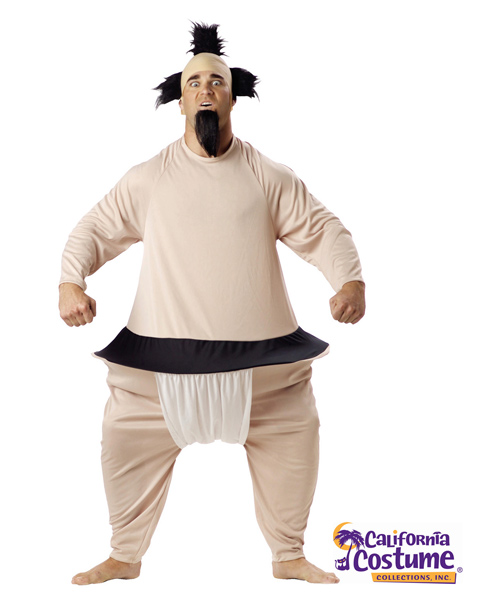 Plus Size Sumo Wrestler Costume for Adult